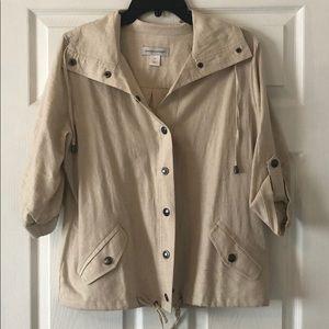 NWOT Size M C&B linen jacket